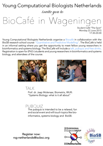 BioCafé Young Computational Biologists Netherlands | BioSB research